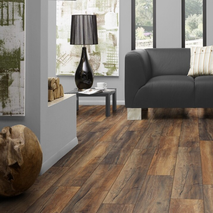 Parquet stratifié 12 mm Harbour Marron 1