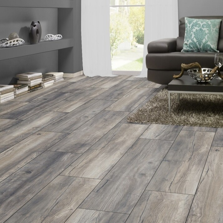 Parquet stratifié 12 mm Harbour Gris 1